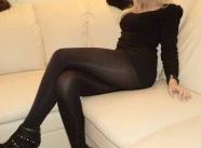 En collants noirs, je me trouve très sexy