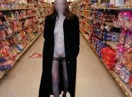 Exhib dans un supermarché en vacances